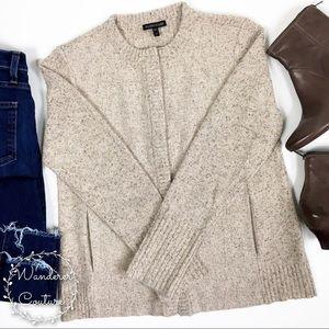 Eileen Fisher Button Wool Blend Cardigan